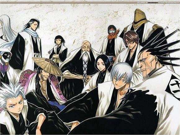 Varios de los shinigamis presentes en la obra de Tite Kubo.