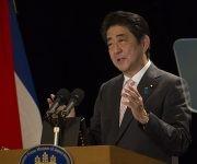 Shinzo Abe, primer ministro de Japón en conferencia de prensa en Hotel Nacional. Foto: Ismael Francisco/ Cubadebate.