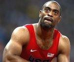 Tyson Gay of the U.S. reacts after finishing fourth in the men's 100m final during the London 2012 Olympic Games at the Olympic Stadium in this August 5, 2012 file photo. U.S. 100 metres record holder Tyson Gay said on July 14, 2013 he had tested positive for a substance he could not identify and was pulling out of next month's world championships. REUTERS/Dylan Martinez/Files (BRITAIN - Tags: SPORT OLYMPICS ATHLETICS)