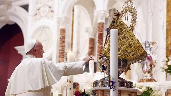 Virgen-de-la-Caridad-del-Cobre-y-Papa-Francisco