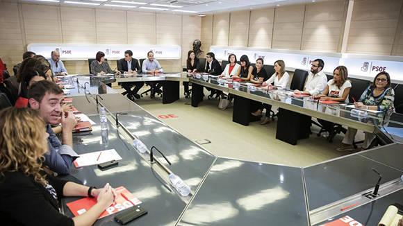 Vista general de La Ejecutiva del PSOE del pasado lunes. Foto: EFE/ Luca Piergiovanni