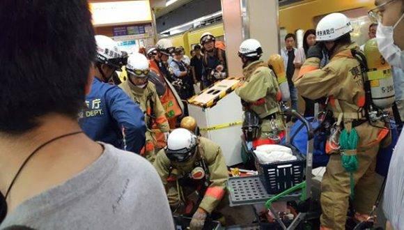 Al menos nueve personas resultaron afectadas por un posible ataque químico en la estación Takadanobaba del metro de Tokio. Foto: Ahora Digital.
