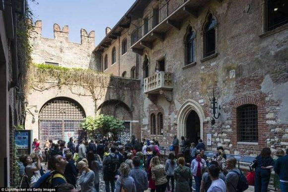 La casa-museo de Julieta Capuleto en Verona.