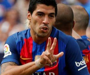 Suárez volvió a marcar.