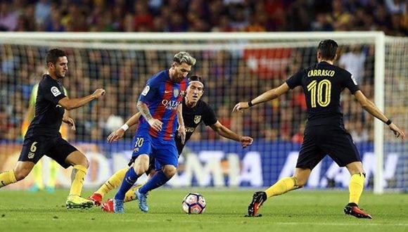 Barcelona no pudo vencer al Atlético de Madrid en el Camp Nou. Foto: EFE.