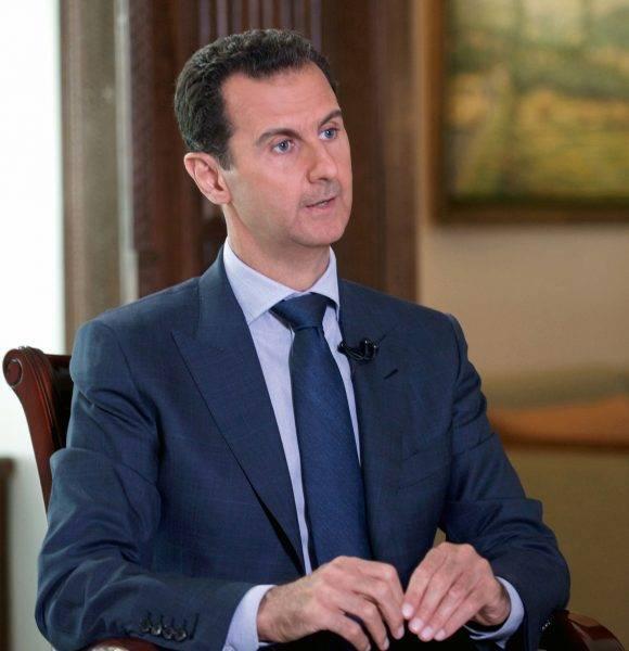 Entrevista con el presidente sirio, Bashar Al-Assad con la agencia AP. Foto: AP.
