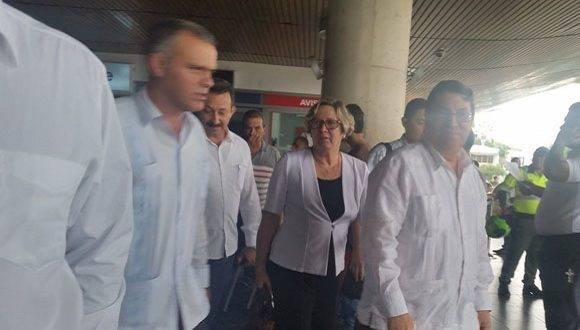 Canciller cubano Bruno Rodríguez Parrilla ya se encuentra en Colombia. Foto: TelesurTV.