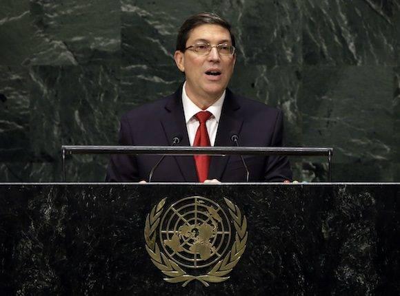 El Canciller cubano ante la ONU. Foto: AP/ Archivo.