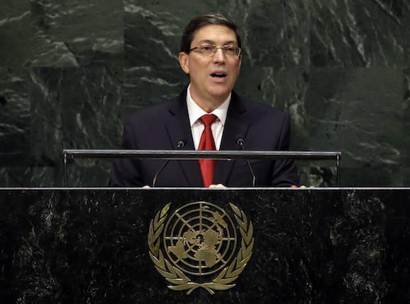 Arribó Canciller cubano a EE.UU. para participar en votación contra el bloqueo