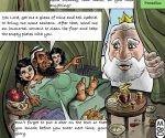 Por difundir esta caricatura en redes sociales fue asesinado el escritor jordano Nahed Hattar: Foto: Europa Press.