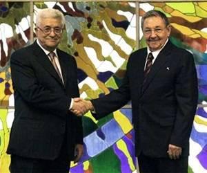 Sostiene presidente cubano Raúl Castro, intercambio con su homólogo palestino