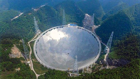 Mayor radiotelescopio del mundo, en China. Foto: EFE.