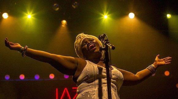Daymé Arocena en Jazz Na Fabrica Festival. Foto Pedro Margherito / Zona Jazz.