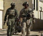 Soldados identificados por las fuerzas sirias como tropas especiales de EEUU en la provincia de Raqqa, Siria. Foto: AFP