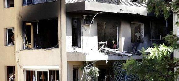 La explosión se originó en el segundo piso del edificio número 194 de la Gran Vía de Lluis Companys.