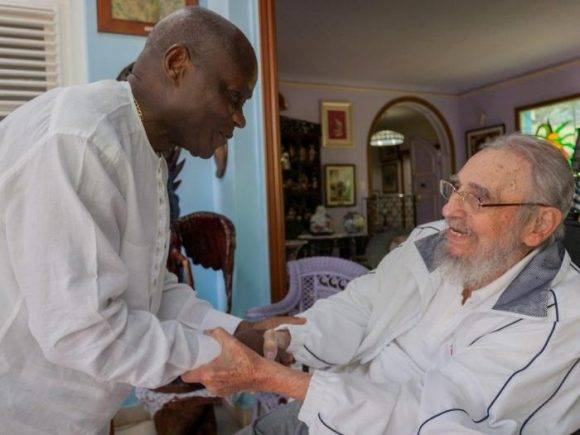 el Comandante en Jefe Fidel Castro Ruz recibió al Excelentísimo Señor José Mário Vaz, Presidente de la República de Guinea Bissau. Foto: Alex Castro