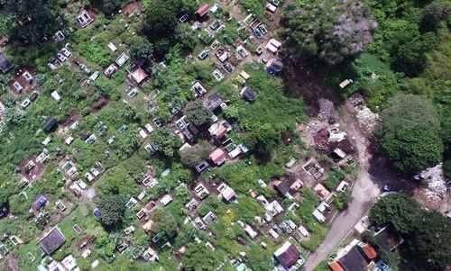 Vista aérea del panteón Palo Verde, ubicado en Xalapa, estado de Veracruz, México. Foto: Sergio Hernández/ La Jornada.