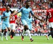 Kelechi Iheanacho definió el derbi a favor del City en Old Trafford. Foto AP