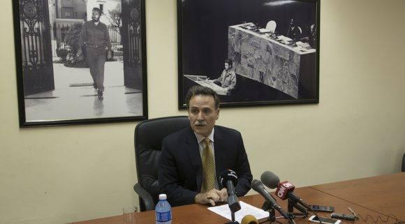 Conferencia de prensa de Gustavo Machín en la Cancillería cubana, este miércoles 28 de septiembre de 2016. Foto: Ismael Francisco/ Cubadebate