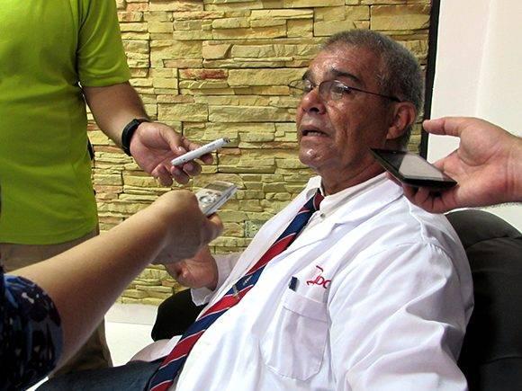 René Romero, director del centro en el encuentro con la prensa. Foto: Cinthya García/Cubadebate.