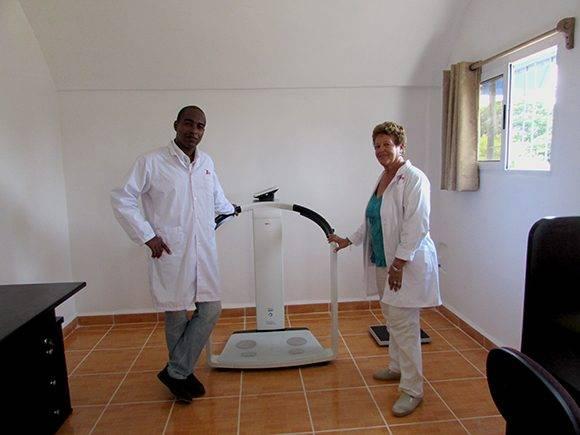 Laboratorio de Cineantropometría. Foto: Cinthya García/Cubadebate.