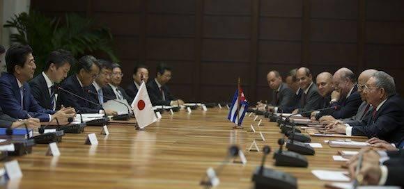 Primer Ministro de Japón en Cuba. Foto: Ismael Francisco/ Cubadebate