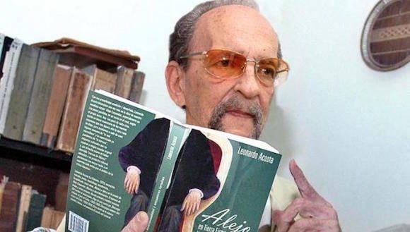 Leonardo Acosta tiene la doble condición de Premio Nacional de Literatura y Música. Foto: Jose M. Correa