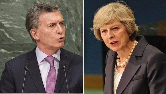 Siguen las dudas sobre el encuentro entre Mauricio Macri y Theresa May en Nueva York. Foto: AFP.