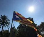 Bandera catalana en manifestación independentista. Foto: Europa Press.