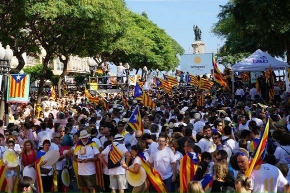 Manifestaciones independentistas en Cataluña. Foto: TWITTER @ANC_REUS.