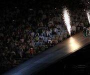 Éste ha sido uno de los momentos más increíbles de la ceremonia. Aaron Wheelz saltó por una rampa de 17 metros. Foto: Mundo Deportivo.