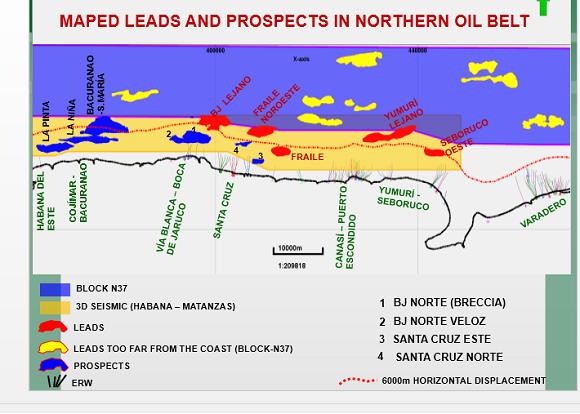 Estudio realizado muestra potencialidades para la exploración petrolera en Cuba. Foto: Cupet.