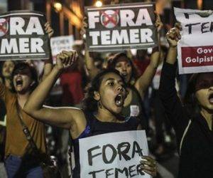 Manifestantes salen a las calles de Brasil para protestar contra Temer. Foto: Archivo.