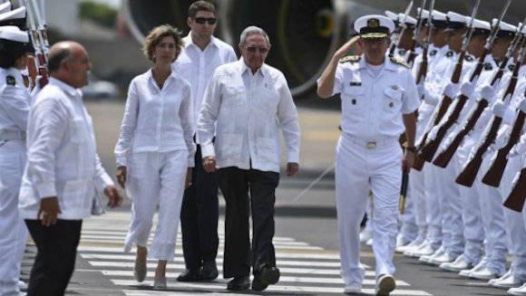 Llega a Cartagena el presidente de Cuba Raúl Castro para la firma del acuerdo de paz entre el gobierno y las FARC. Foto: AFP