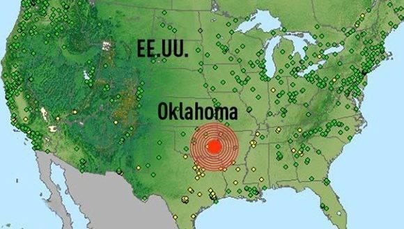 El epicentro se localizó en Pawnee (Oklahoma). Foto: RT.