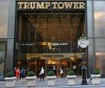 Entrada al edificio insignia de la marca Trump. Foto: Sandro Pozzi.