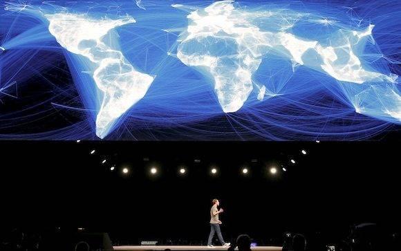 Mark Zuckerberg durante una presentación de Facebook.