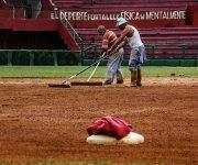 Después de las lluvias, un arduo trabajo se realizó para lograr que el terreno estuviese en condiciones. Foto: Cinthya García Casañas/ Cubadebate