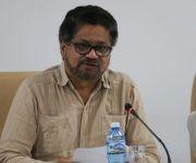 Iván Márquez, jefe del equipo negociador de las Fuerzas Armadas Revolucionarias de Colombia-Ejército del Pueblo (FARC- EP), durante la conferencia de prensa ofrecida en el Palacio de Convenciones, en La Habana, Cuba, el 28 de octubre de 2016.  ACN  FOTO/ Omara GARCÍA MEDEROS/ rrcc