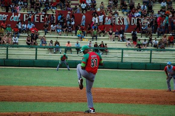 Yoalkis Cruz recetó dos ponches a sus rivales. Foto: Cinthya García Casañas.
