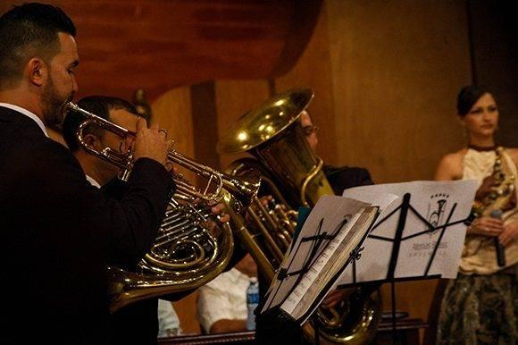 Integrantes de Atenas Brass Ensemble fueron protagonisas en la parte cultural del espectáculo. Foto: Cinthya García Casañas