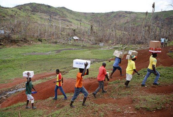 Haití tras el paso del huracán Matthew. Foto: AP.