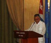 Alfedo Gonzalez, viceministro de Salud Publica de Cuba, durante la clausura de la primera Reunión Regional para la Estrategia de Vigilancia y  Control de las arbovirosis. Foto: José Raúl Concepción/ Cubadebate.