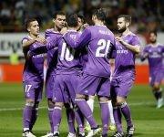 Así celebró el Madrid el gol. Foto: José A. García/ MARCA.