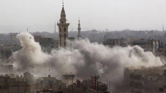 Ataque a la embajada rusa en Damasco, Siria. Foto: Reuters.