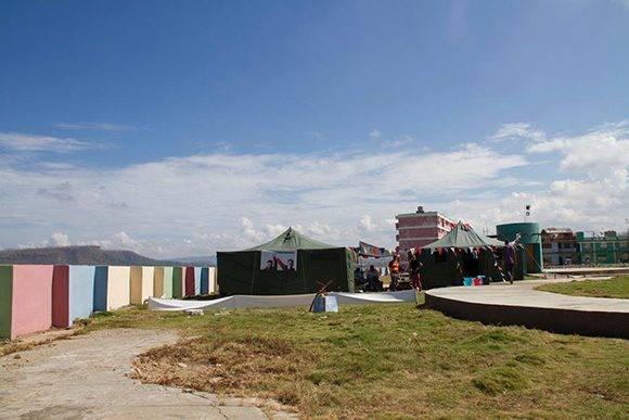 Brigada Martha Machado en Guantánamo. Foto tomada del perfil de Kcho en Facebook.