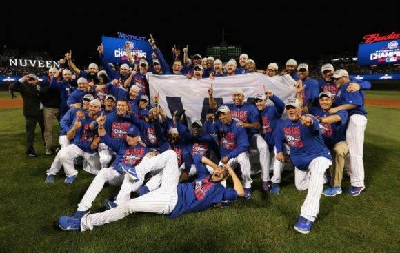 Cicago Cubs celebran