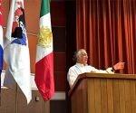 El fundador y presidente vitalicio de Conpeht, el mexicano Miguel Torruco, durante el XXVI Congreso Panamericano de Escuelas de Hotelería, Gastronomía y Turismo. Foto: @TurismoCDMX.