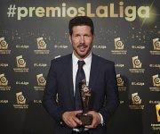 Diego Simeone fuer reconocido como el mejor entrenador. Foto: LaLiga Santander.