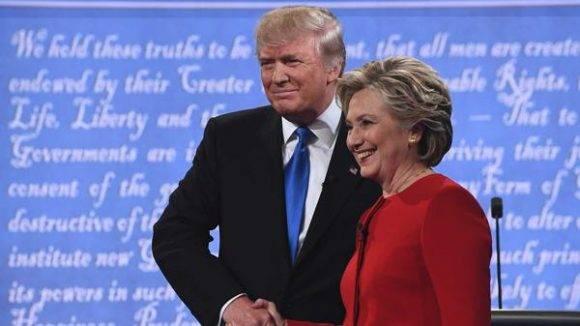 Donald Trump y Hillary Clinton. Foto: AFP.